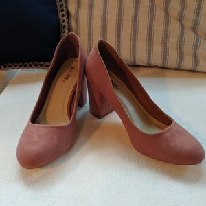 NWT JustFab dusty pink pumps